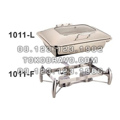 Hydraulic Rectangle Chafing Dish 9L and Frame 1011-L Getra