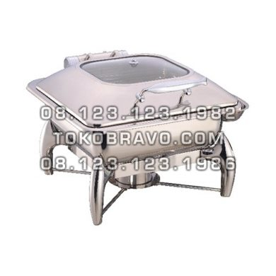 Hydraulic Square Chafing Dish 5.5L and Frame 1032-L 1032-F Getra