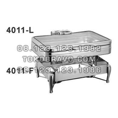 Hydraulic Rectangle Chafing Dish and Frame 4011-L 4011-F Getra