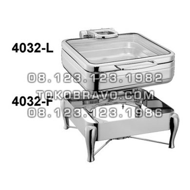 Hydraulic Square Chafing Dish and Frame 4032-L 4032-F Getra