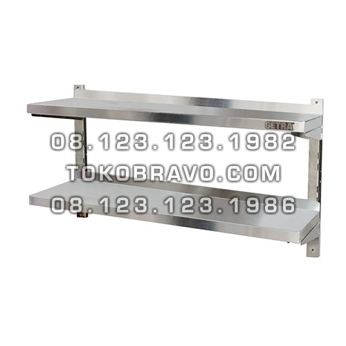 Stainless Steel Double Adjustable Wall Shelf AWS-100 Getra