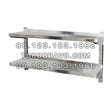 Stainless Steel Double Adjustable Wall Shelf AWS-180 Getra
