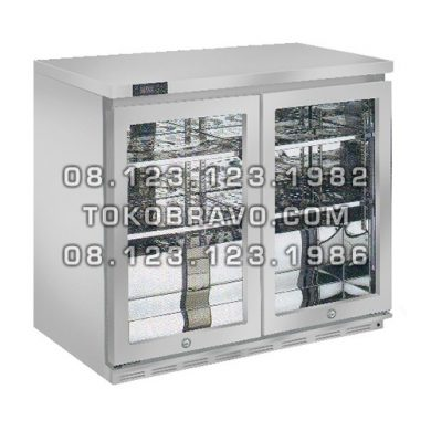 Stainless Steel Back Bar Bottle Cooler BB-W5T2 Gea