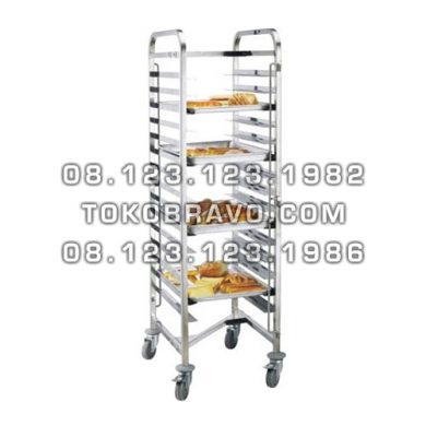Stainless Steel Gastronom / Bakery Trolley BPT-15 Getra