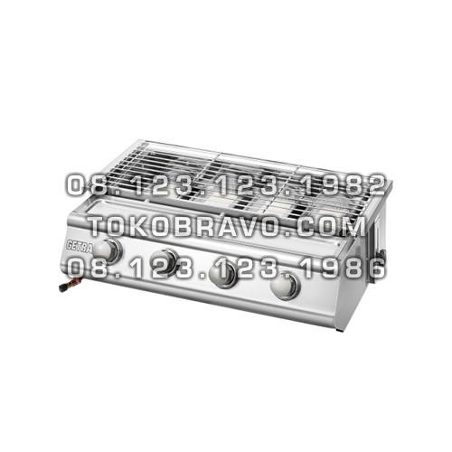 Gas Roaster Stainless Steel 4 Burner BBQ BS214 Getra