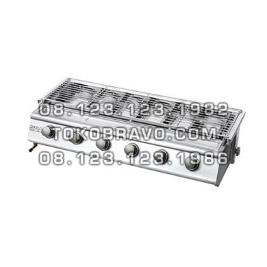 Gas Roaster Stainless Steel 6 Burner BBQ BS216 Getra