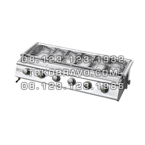 Gas Roaster Stainless Steel 6 Burner BBQ BS216 Getra