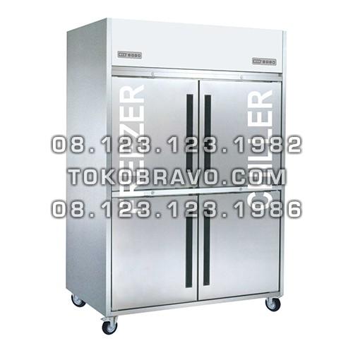 Stainless Steel Refrigerant Cabinet Upright Combi 4 Door D-RW8U2HHHH Gea