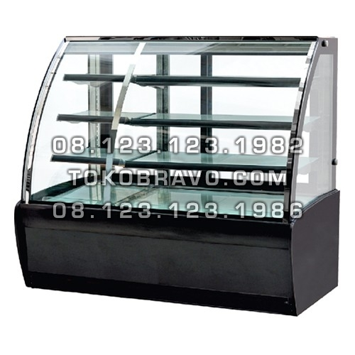Curved Glass Cake Hot and Cool Cake Showcase DS-950 Gea