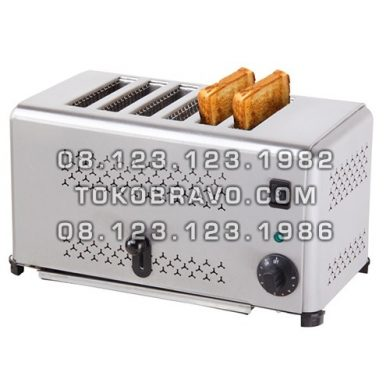 Bread 4 Slot Toaster Pop Up EST-AP-6 Getra
