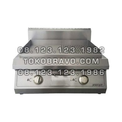 Stainless Steel Gas Half Grooved Gridle ET-GGR-60H Getra