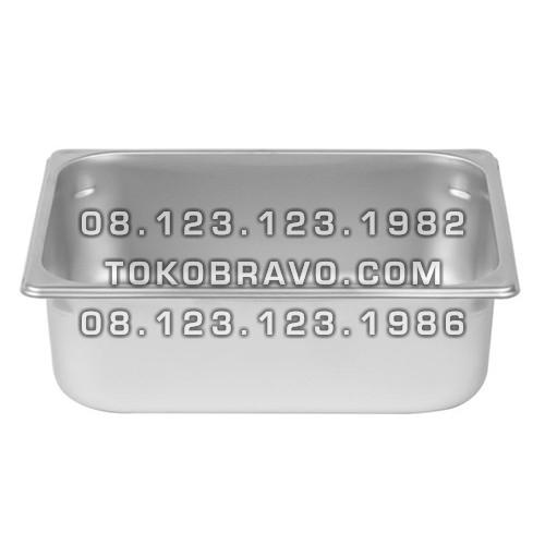 Gastronom Pan Stainless Steel Food Pan FP 1/2-6 Getra