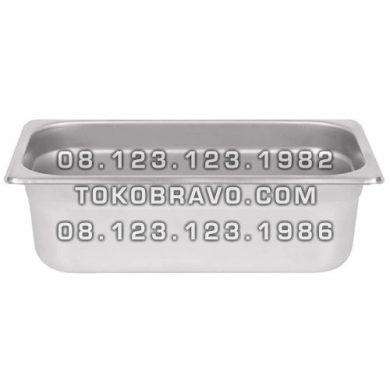 Gastronom Pan Stainless Steel Food Pan FP 1/3-4 Getra