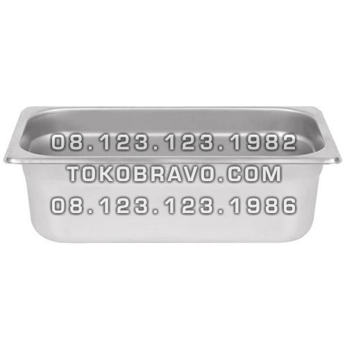 Gastronom Pan Stainless Steel Food Pan FP 1/3-4 Getra
