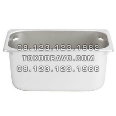 Gastronom Pan Stainless Steel Food Pan FP 1/3-6 Getra