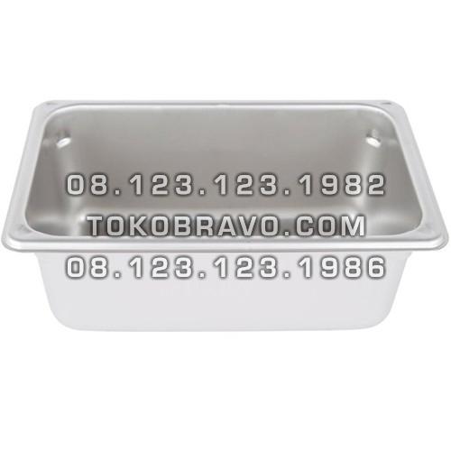 Gastronom Pan Stainless Steel Food Pan FP 1/4-4 Getra