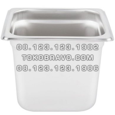 Gastronom Pan Stainless Steel Food Pan FP 1/6-6 Getra