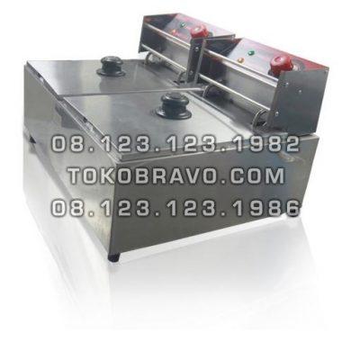 Electric Deep Fryer Double Tank FRY-EZL2 Fomac