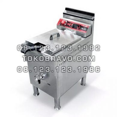 Gas Deep Fryer Single Tank 17L FRY-G171 Fomac