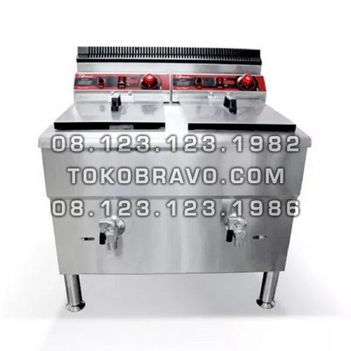Gas Deep Fryer Double Tank 17Lx2 FRY-G172 Fomac