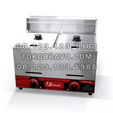 Gas Deep Fryer Double Tank FRY-G72 Fomac