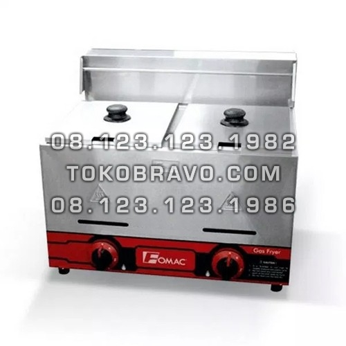 Gas Deep Fryer Double Tank FRY-G72 Fomac