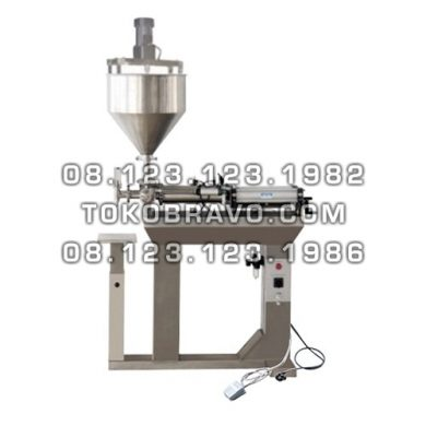 Paste Filler Free Standing Semi Auto Single Nozzle with Mixing Hoper GCG-MIX Getra
