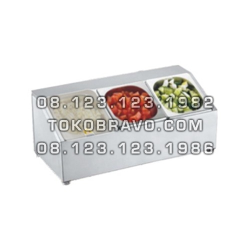 Stainless Steel GN Holder with Polycarbonate Cover GNH-3 Getra