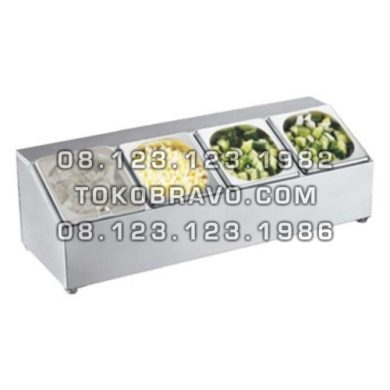 Stainless Steel GN Holder with Polycarbonate Cover GNH-4 Getra