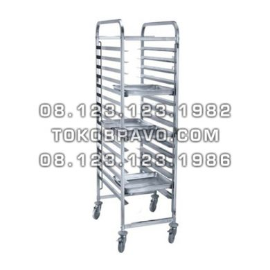 Stainless Steel Gastronom / Bakery Trolley GNT-15 Getra