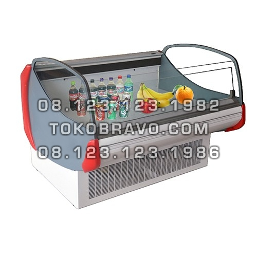 Supermarket Refrigeration Cabinet Deluxe Serve Open Counter Heliconia-LS-125 Gea