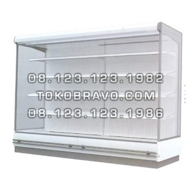Supermarket Refrigeration Cabinet Double Air Curtain Magnolia FS 250CM Gea