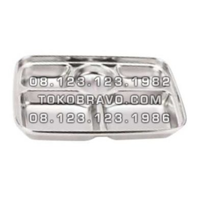 Stainless Steel 6 Section Food Tray MM-060 Getra