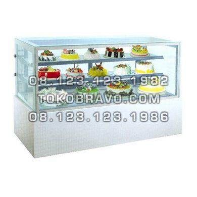 Rectangular Cake Showcase White Marble Panel 2 Shelves MM760V Gea