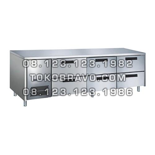Stainless Steel Under Counter Chiller Drawer Series M-RW6T3NNN Gea