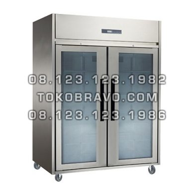 Stainless Steel Glass Door Upright Chiller