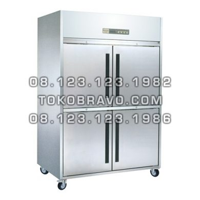 Stainless Steel Refrigerant Cabinet Upright Chiller M-RW8U2HHHH-P Pass Through Gea