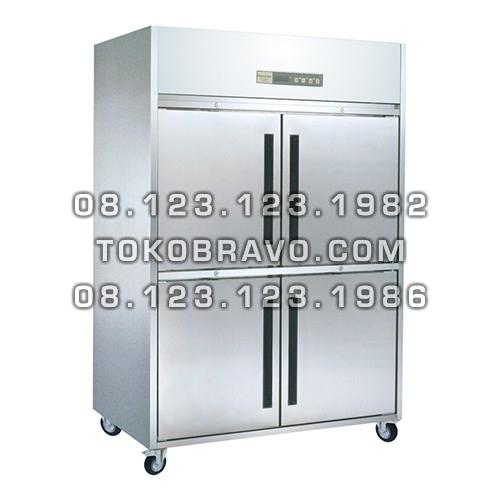 Stainless Steel Refrigerant Cabinet Upright Chiller M-RW8U2HHHH-P Pass Through Gea