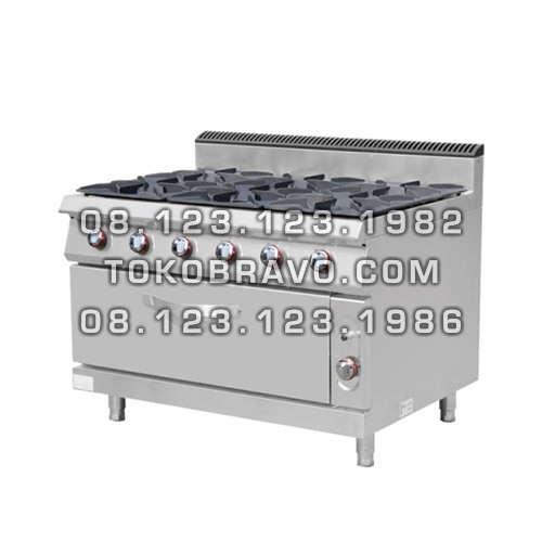 Gas Stove 6 Burner W/ Oven MS-E-RQB-700-6S Masema