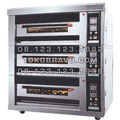 Luxurious Gas Oven 3Deck 12Tray MS-R-120H Masema