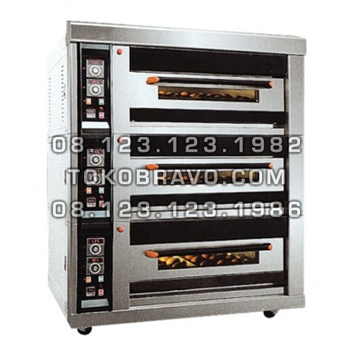 Luxurious Gas Oven and Proofer 3Deck 8Tray MS-R-40HF Masema
