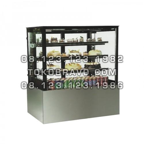Stainless Rectangular Cake Showcase 1800mm MS-RCS-180 Masema