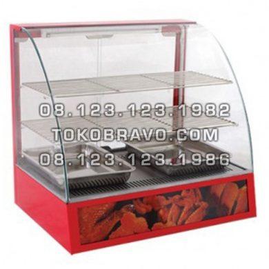 Table Top Curved Glass Warmer Showcase MS-SC-2P Masema