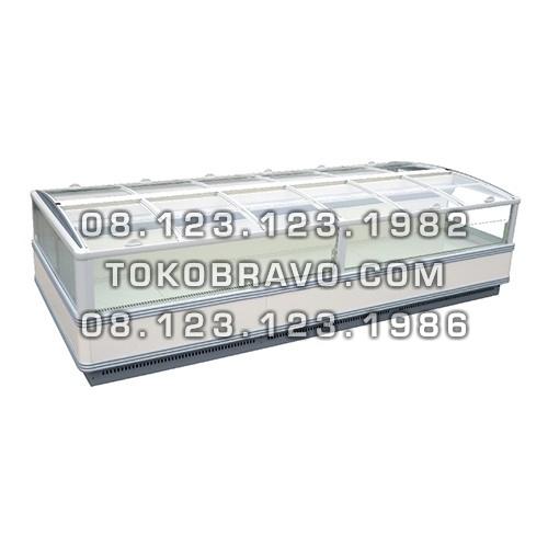 Supermarket Refrigeration Cabinet Orchid II 2000LT Head Piece Freezer Gea