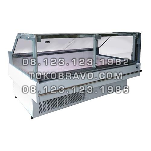 Supermarket Refrigeration Cabinet Lift Up Flat Glass Serve Over Counter Petunia-RCA-187 Gea