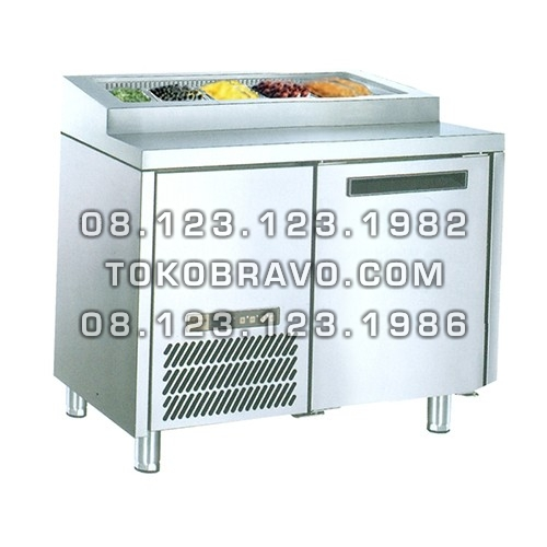Stainless Steel Under Counter Chiller for Salads and Pizza PW-10 Gea