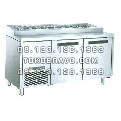 Stainless Steel Under Counter Chiller for Salads and Pizza PW-20 Gea
