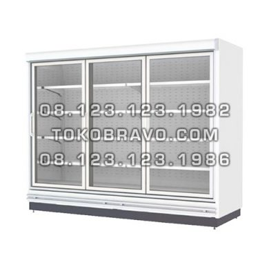 Supermarket Refrigeration Cabinet ROSE NT-LT Chiller 6 doors W.375CM Gea