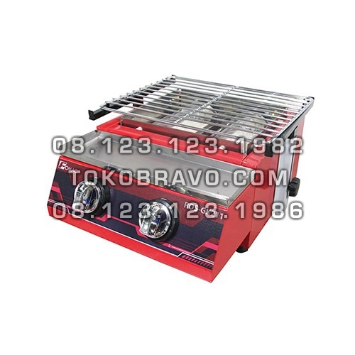 2 Head Burner Painted Cover BBQ Roaster ROS-GK211 Fomac