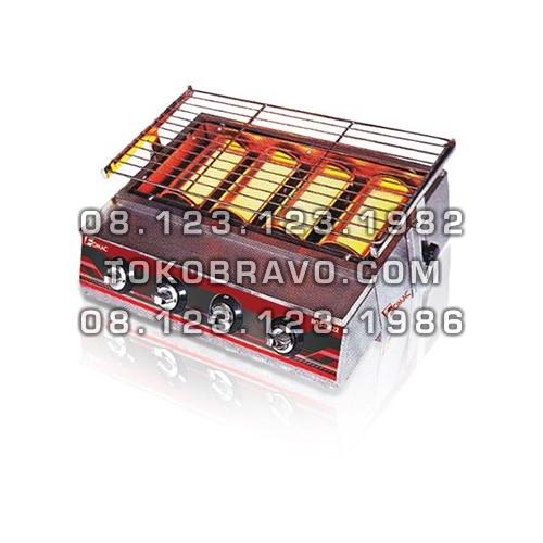 4 Head Burner Stainless Steel BBQ Roaster ROS-GK22 Fomac